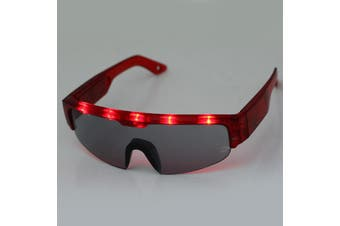 5 Light Cool DJ Style Flashing LED Glasses for Christmas Party Decorations(Red)