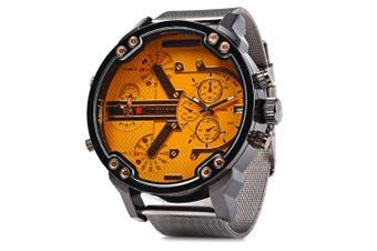 JUBAOLI Double Movt Men Quartz Watch with Decorative Sub-dials Date Function-Orange