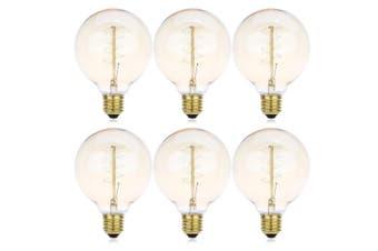 Lightme 6pcs G95 230V 40W E27 110 - 120LM 32AK Retro Edison Bulb Tungsten Light Bulb-Transparent Gold