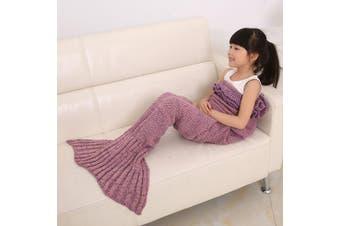 Knitted Flouncing Sleeping Bag Mermaid Tail Blanket For Kids
