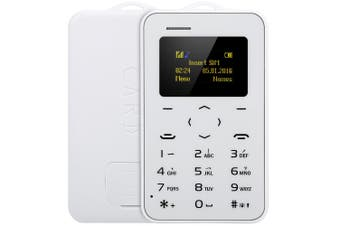 AIEK C6 1.0 inch Card Phone Bluetooth 2.0 Calendar Alarm Calculator