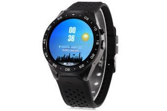 KingWear KW88 Android 5.1 1.39 inch Amoled Screen 3G Smartwatch Phone MTK6580 Quad Core 1.39GHz 512MB RAM 4GB ROM GPS Gravity Sensor Pedometer