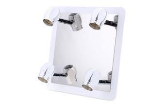 Lightme GU10 Modern 4 x 3W Bathroom Front Mirror Light 360 Degree Rotating Wall Fixture Lamp-Silver White