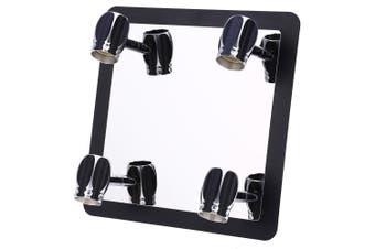 Lightme 3W 4 Bulb Bathroom LED Mirror Front Lamp-Bright Black