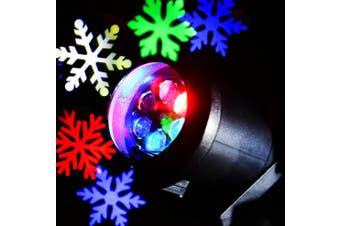 Lightme 110 - 240V 6W LED Colorful Snowflake Light Waterproof Landscape Projector Lamp-Black
