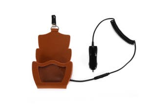 Amisir A5 Qi 3 Coil Car Wireless Charger Transmitter Pad Leather Holder Launcher with Charge Adapter