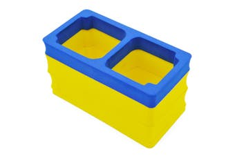 Caden P1 Universal Shockproof Camera Video Storage Bag Liner-Blue and Yellow
