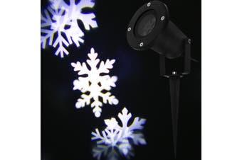 Lightme 100 - 240V 6W LED Waterproof Snowflake Light Landscape Projector Lamp-Black