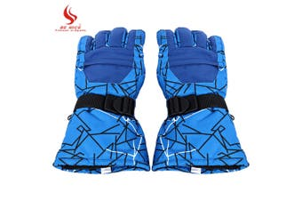 BENICE Paired Motorcycle Water Resistant Windproof Warm Protection Thickened Skiing Gloves-Size XL