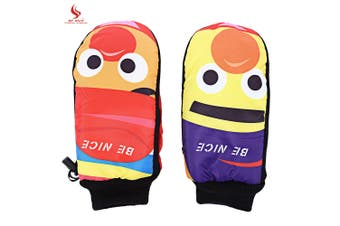 BENICE Paired Cartoon Cute Water Resistant Warm Protection Ski Glove-Size L