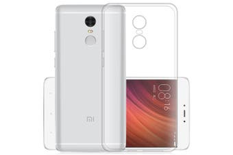 ASLING Transparent TPU Soft Case Protective Cover Phone Protector for Xiaomi Redmi Note 4X