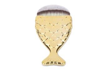 Cosmetic Soft Hair Fishtail Shape Makeup Foundation Brush