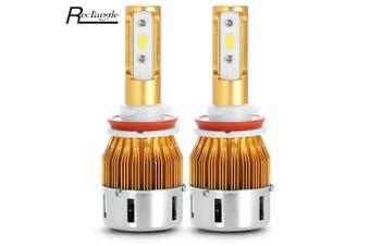 Rectangle T23904 H8 Pair of Car LED Headlight(WHITE LIGHT)
