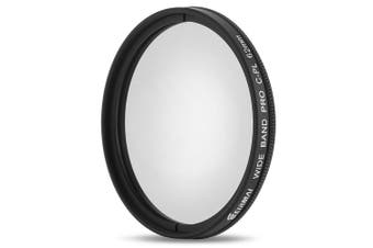 Eirmai 62mm UV CPL Ultra Slim Optical Camera Filter Professional Adjustable Lenses for Canon Nikon