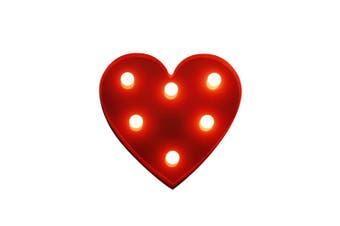 BRELONG 3D Warm White Kids Room Night Light Christmas Wedding Decorative 4.5V - Heart ( No Battery )