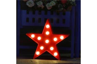 BRELONG 3D Warm White Decoration Night Light for Kids Room Christmas Wedding Star 3V