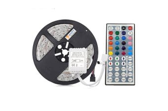 ZDM RGB LED Strip Light 5M 75W with 44 Key IR Remote Controller DC12V