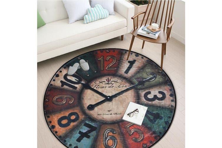 Clock Pattern Floor Mats Anti-slip Printed Rug-60*60