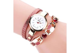 DUOYA D167 Women Wrap Around Leather Wrist Watches