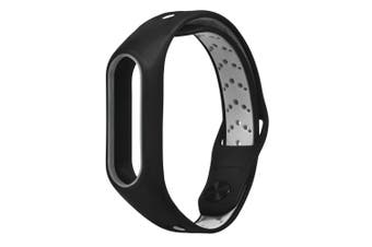 TAMISTER Double Color Silicone Smart Watch Replacement Strap for Xiaomi Mi Band 2