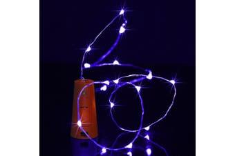 BRELONG 8LED Wine Stopper Brass Lights Decorative Light String-Blue