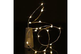 BRELONG 5LED Wine Stopper Brass Lights Decorative Light String