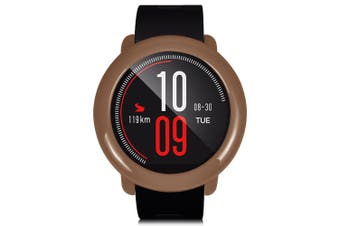 TAMISTER Full Coverage Ultra-thin PC Bumper Case for AMAZFIT-Wood