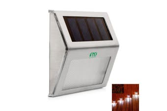 Outdoor LED Solar Power Energy Light Sun Power Waterproof Path Street Stair Wall Lamp