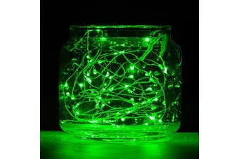 BRELONG 20LED Copper Wire String Lights for Christmas Indoor Decorations(Green light)