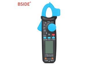 BSIDE Digital Current Clamp Ammeter AC DC Voltmeter Tester-Black Blue