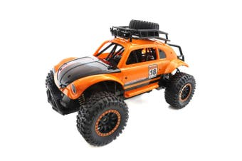 Flytec 1/14 2.4GHz 25km/h Independent Suspension Spring Off Road Vehicle RC Crawler Car-Cantaloupe