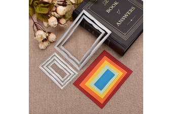 DIY Quadrilateral Border Metal Cutting Dies Set for Greeting Card Cover Photo Album
