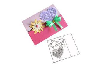 Love Heart Envelope Pattern Embossing Cutting Dies for DIY Scrapbook Album Paper Card Making