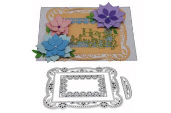 Border Flower Frame Metal Embossing Plate Stencil Carbon Steel Cutting Die for DIY Cards Album