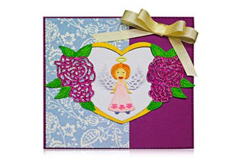 Adorable Angel Design Metal Cutting Dies for Greeting Card Cover Photo Album