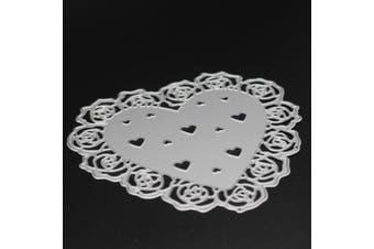 Heart Shape Flower Pattern Design Metal Cutting Dies Set for DIY Photo Album Decoration