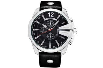 CURREN Men's Luxury Band Material Type Leather Sport Watch