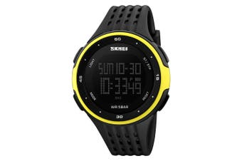 SKMEI Large Dial LED Digital Waterproof Alarm Calendar Fashion Casual Watch