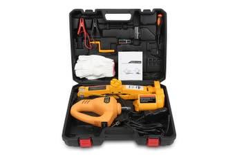 12V Car Electric Hydraulic Floor Jack Lifting Set Impact Wrench Tool