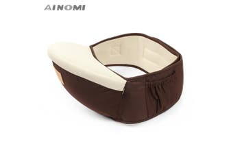 Ainomi Baby Carrier Waist Stool Walkers Infant Sling Hold Hipseat Belt for Kids-Coffee