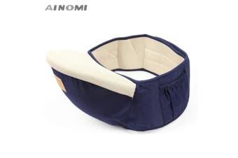 Ainomi Baby Carrier Waist Stool Walkers Infant Sling Hold Hipseat Belt for Kids-Deep Blue