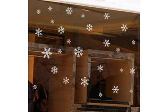 Christmas Snowflake PVC Window Wall Sticker-White