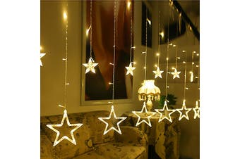 Twinkle 12 Stars LED Curtain String Window Curtain Lights for Christmas