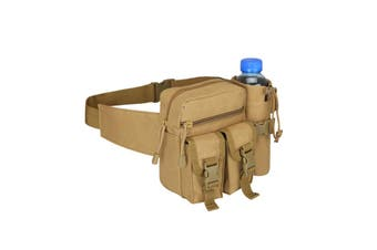 Camouflage Tactical Kettle Waist Bag Sports Water Bottle Pocket