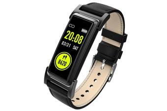 KingWear KR03 Smart Bracelet 0.96 inch nRF51822QFAA 64KB RAM 512KB ROM Heart Rate Monitor Step Count Sedentary Reminder IP68 140mAh Built-in