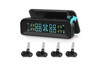 AutoLover C260 Tire Pressure Monitoring System Solar TPMS Universal Real-time Tester LCD Screen with 4 Internal Sensors