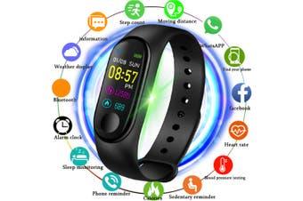 V5 M3PLUS Intelligent LED Color Screen Watch Sports Health Pedometer