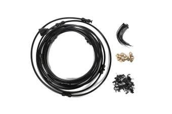 6M Garden Tap Water Pressure Spray Set with Atomization System-Black