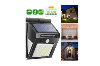BRELONG Solar LED Wall Lamp IP65 Waterproof Three-Sided Lighting Motion Sensor(40LED)