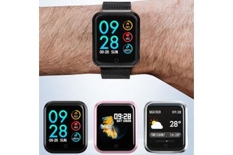 P68 Bluetooth Smartwatch IP68 Waterproof Heart Rate Monitor Sports Tracker Smart Watch